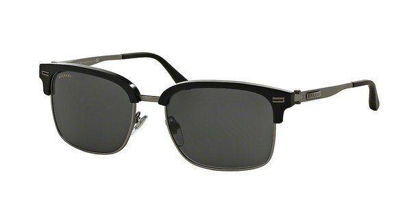Bvlgari Herren Sonnenbrille » BV7026« in 531387 - schwarz/grau