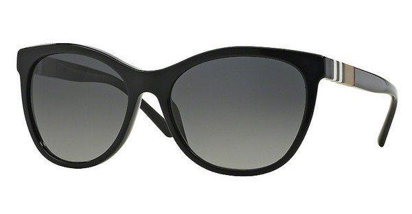 BURBERRY Burberry Damen Sonnenbrille » BE4199«, schwarz, 3001T3 - schwarz/grau