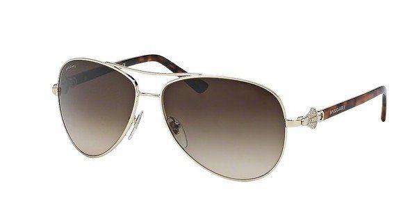 Bvlgari Damen Sonnenbrille » BV6073B« in 278/13 - gold/braun