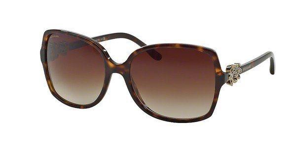 Bvlgari Damen Sonnenbrille » BV8120B« in 504/13 - braun/braun