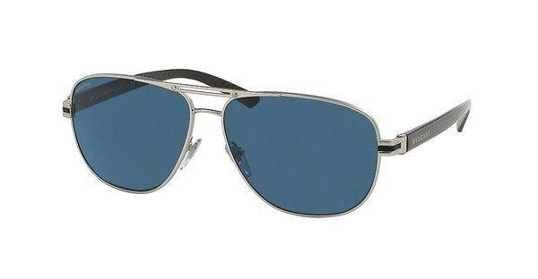 Bvlgari Herren Sonnenbrille » BV5033« in 400/80 - silber/blau