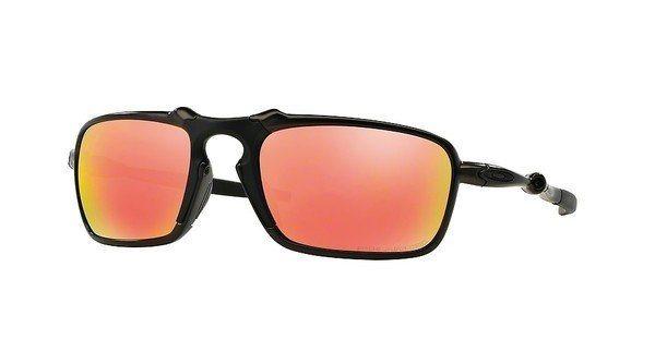 Oakley Herren Sonnenbrille »BADMAN OO6020« in 602003 - grau/rot