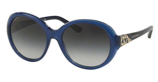 Bvlgari Damen Sonnenbrille » BV8154B« in 51458G - blau/grau