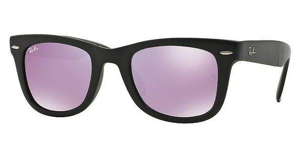 RAY-BAN Herren Sonnenbrille »FOLDING WAYFARER RB4105« in 601S4K - schwarz/lila