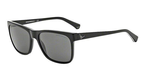 Emporio Armani Herren Sonnenbrille » EA4002« in 501787 - schwarz/grau