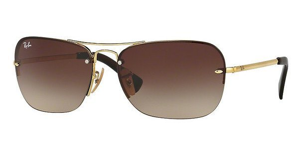 RAY-BAN Herren Sonnenbrille » RB3541« in 001/13 - gold/braun