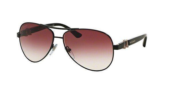 Bvlgari Damen Sonnenbrille » BV6080B« in 239/8H - schwarz/rot