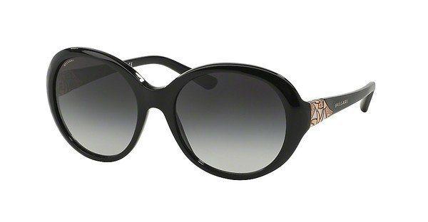 Bvlgari Damen Sonnenbrille » BV8154B« in 501/8G - schwarz/grau