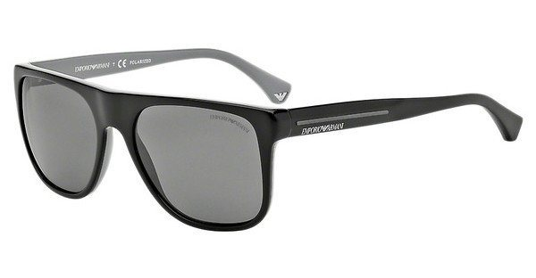 Emporio Armani Herren Sonnenbrille » EA4014« in 510281 - schwarz/grau