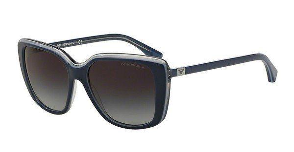 Emporio Armani Damen Sonnenbrille » EA4069« in 55178G - blau/grau