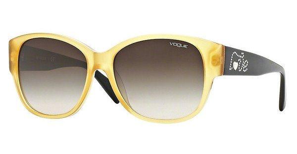 Vogue Damen Sonnenbrille » VO2869SB« in 219913 - gelb/braun