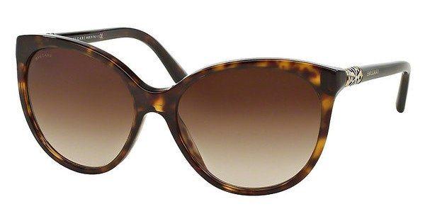 Bvlgari Damen Sonnenbrille » BV8147B« in 504/13 - braun/braun