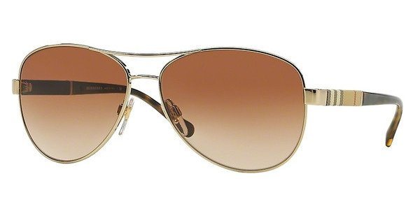 Burberry Damen Sonnenbrille » BE3080« in 114513 - gold/braun