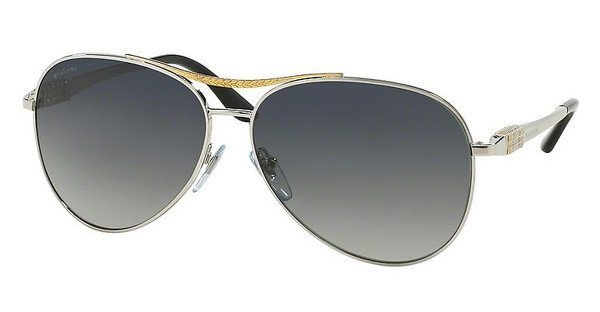 Bvlgari Damen Sonnenbrille » BV6075« in 2005T3 - silber/grau