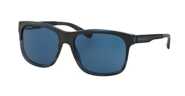 Bvlgari Herren Sonnenbrille » BV7024« in 535780 - blau/blau