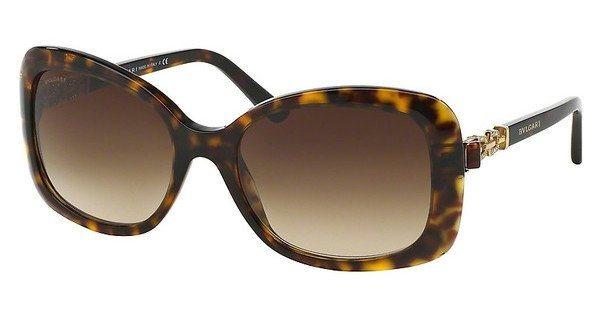 Bvlgari Damen Sonnenbrille » BV8144B« in 504/13 - braun/braun