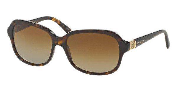 Bvlgari Damen Sonnenbrille » BV8102G« in 5191T5 - braun/braun
