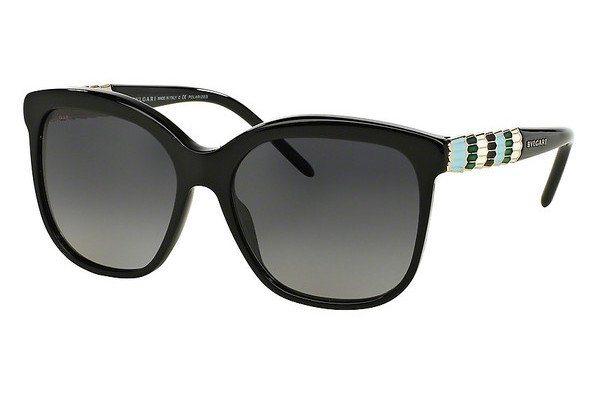 Bvlgari Damen Sonnenbrille » BV8155« in 501/T3 - schwarz/grau