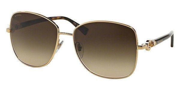 Bvlgari Damen Sonnenbrille » BV6062K« in 393/3B - gold/braun