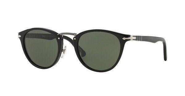Persol Herren Sonnenbrille » PO3108S« in 95/31 - schwarz/grün