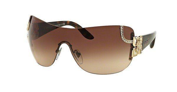 Bvlgari Damen Sonnenbrille » BV6079B« in 278/13 - gold/braun