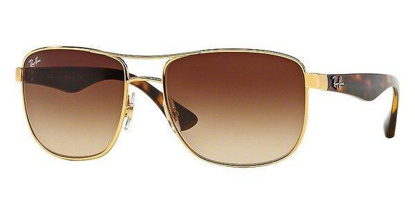 RAY-BAN Herren Sonnenbrille » RB3533« in 001/13 - gold/braun
