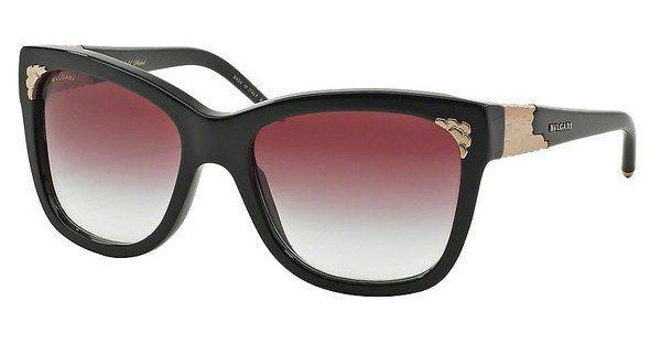 Bvlgari Damen Sonnenbrille » BV8134K« in 501/8H - schwarz/rot