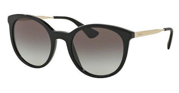 PRADA Prada Damen Sonnenbrille »CINEMA PR 17SS«, schwarz, 1AB0A7 - schwarz/grau