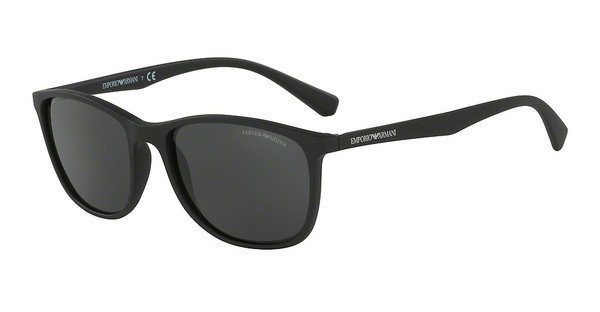 Emporio Armani Herren Sonnenbrille » EA4074« in 504287 - schwarz/grau