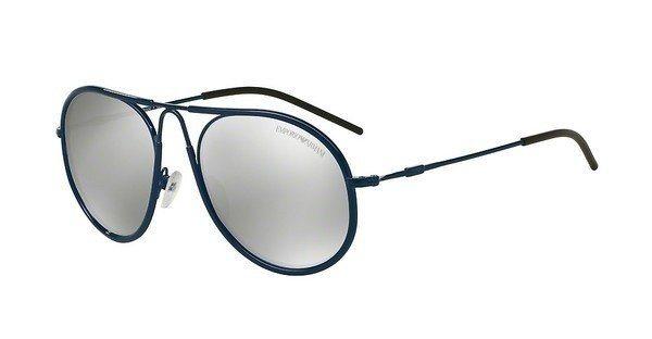 Emporio Armani Herren Sonnenbrille » EA2034« in 30196G - blau/silber