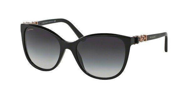 Bvlgari Damen Sonnenbrille » BV8145B« in 501/8G - schwarz/grau