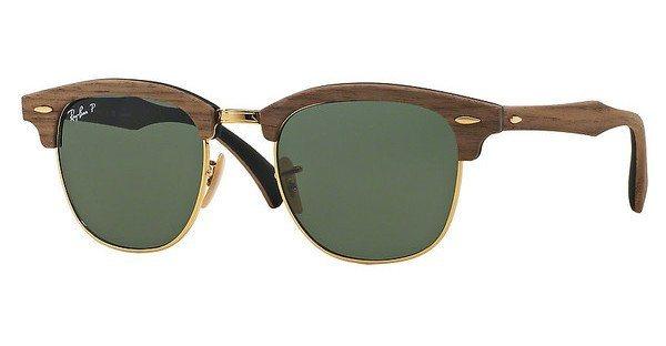 RAY-BAN Herren Sonnenbrille »CLUBMASTER (M) RB3016M« in 118158 - schwarz/grün