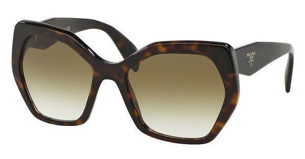PRADA Prada Damen Sonnenbrille » PR 16RS«, grau, VAN9K1 - grau/grau