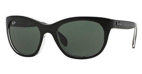 RAY-BAN Damen Sonnenbrille » RB4216« in 605271 - schwarz/grün