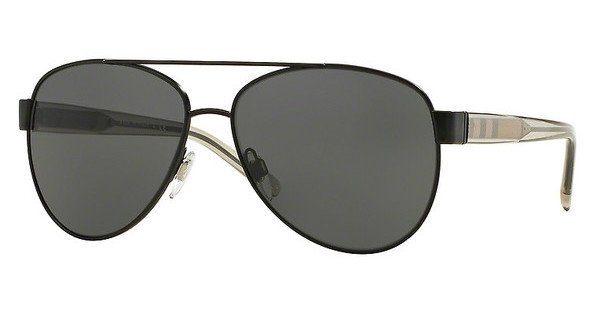 BURBERRY Burberry Damen Sonnenbrille » BE3084«, schwarz, 100787 - schwarz/grau