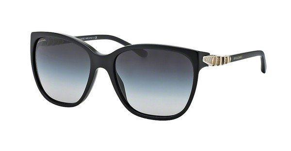 Bvlgari Damen Sonnenbrille » BV8136B« in 501/8G - schwarz/grau