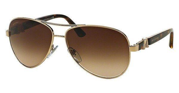 Bvlgari Damen Sonnenbrille » BV6080B« in 278/13 - gold/braun