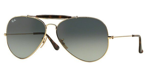 RAY-BAN Herren Sonnenbrille »OUTDOORSMAN II RB3029« in 181/71 - gold/grau