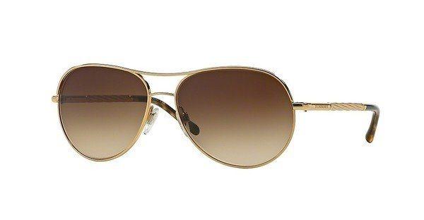 Burberry Damen Sonnenbrille » BE3082« in 121013 - gold/braun