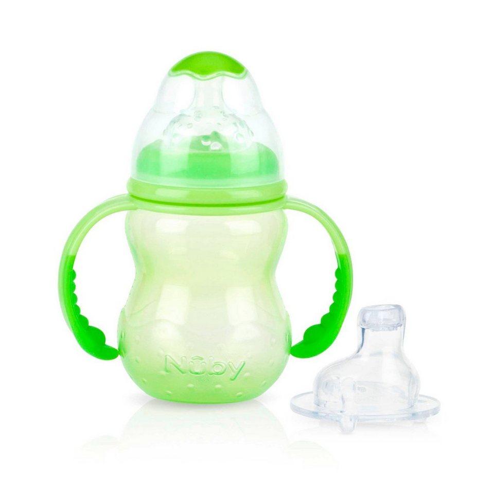NÛBY Weithals-Trinklernflasche Starter Cup in grün