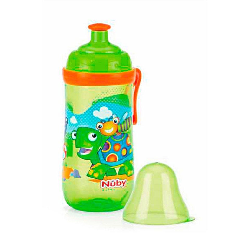 NÛBY Pop-Up Trinklernflasche in grün
