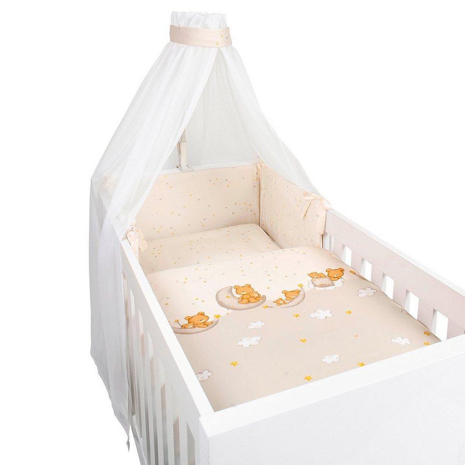 BORNINO HOME 4-tlg. Babybettausstattung Wolkentraum in beige
