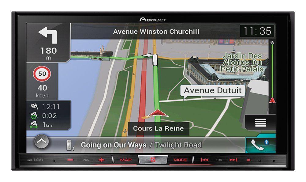 PIONEER 2-DIN Mediacenter mit Navigation »AVIC-F80DAB«