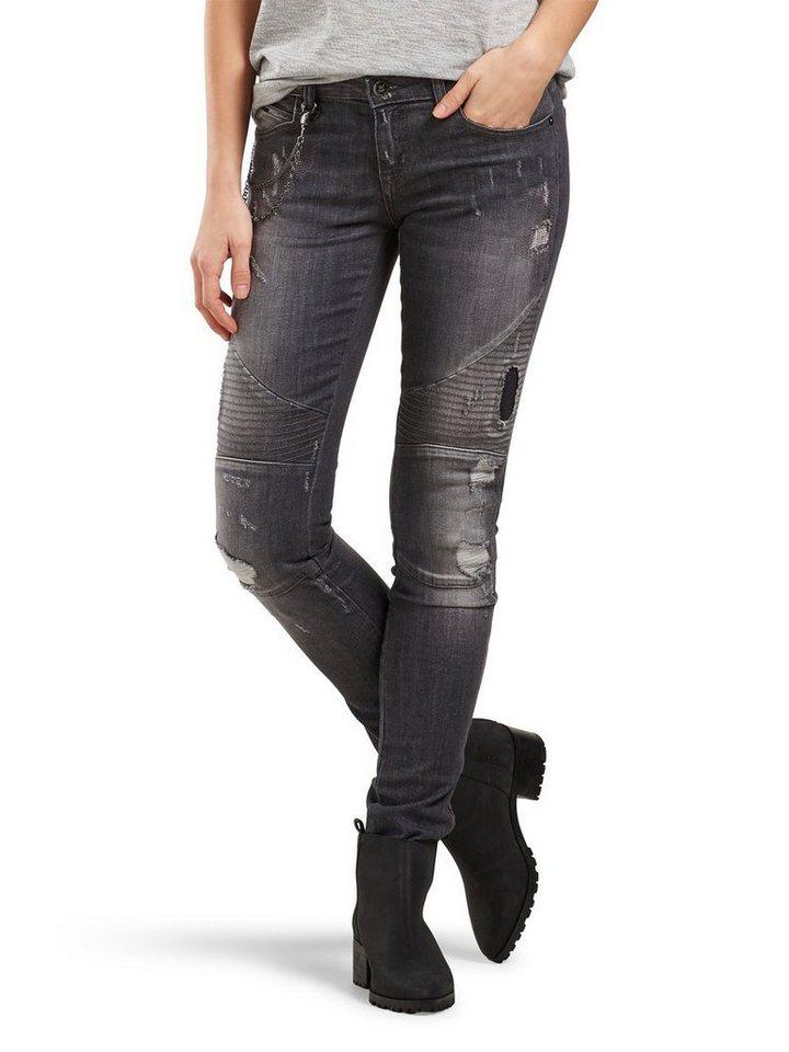 only daphne low biker skinny fit jeans kaufen otto. Black Bedroom Furniture Sets. Home Design Ideas
