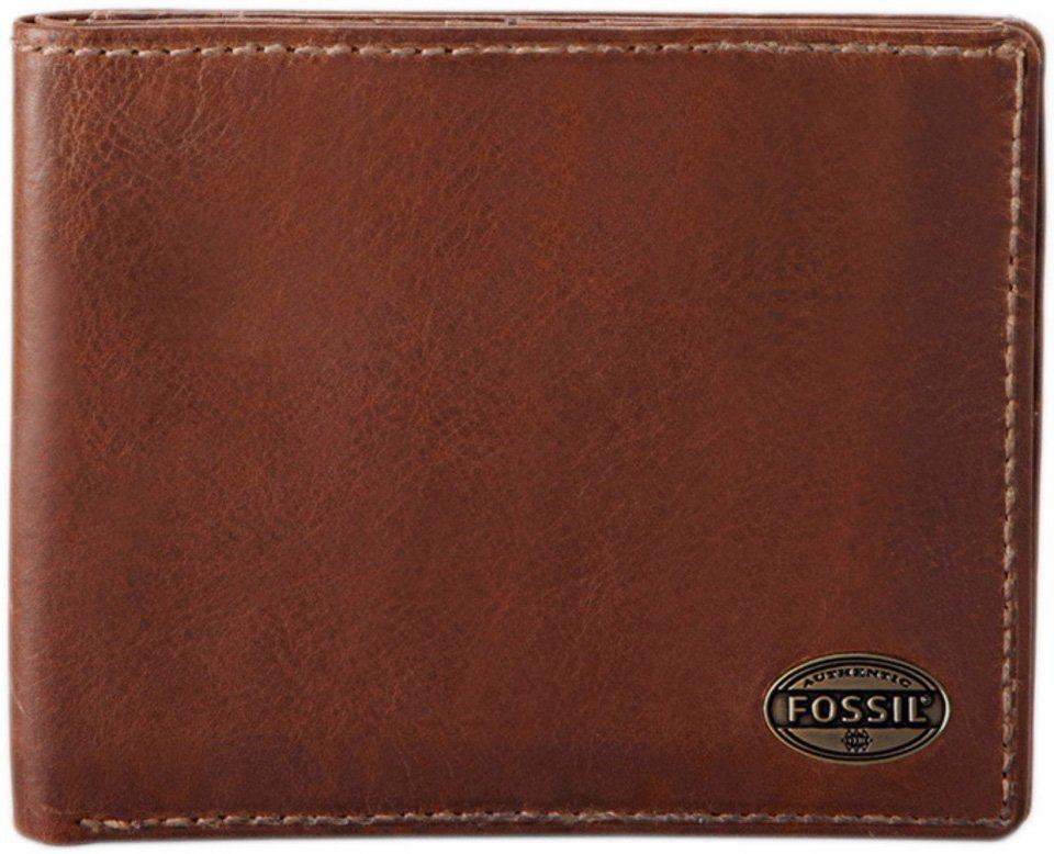 Fossil Geldbörse »ESTATE« aus Leder in cognac