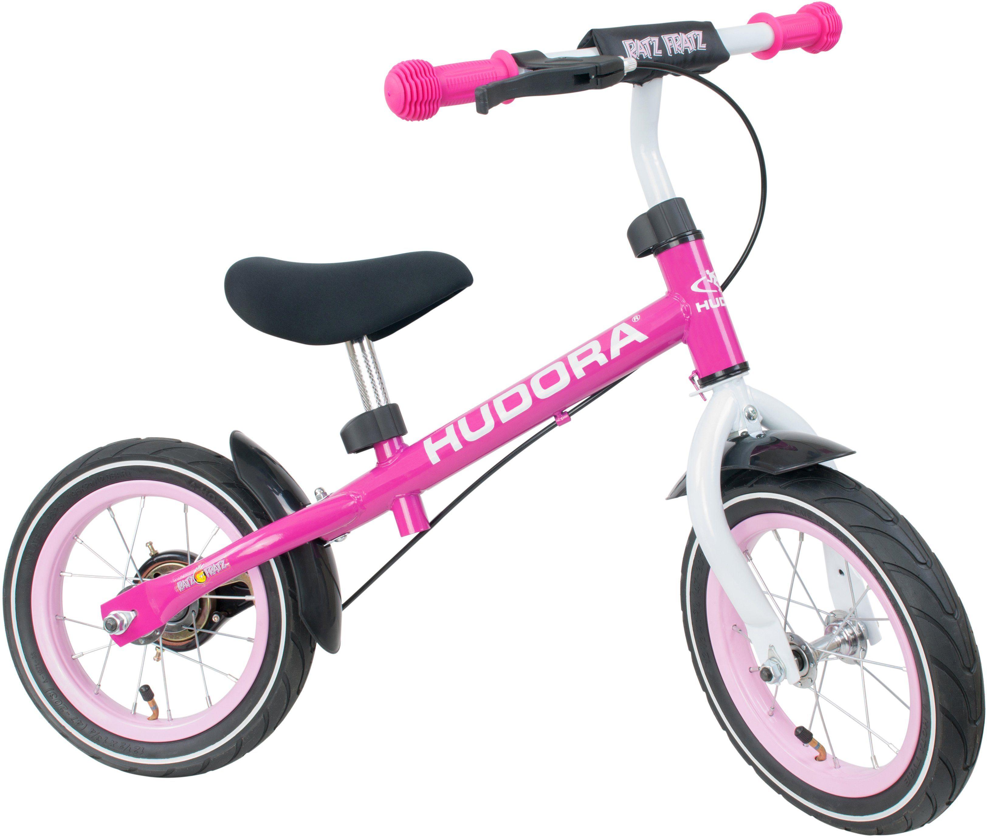 Hudora Laufrad mit Hinterradbremse, »Ratzfratz Air pink«