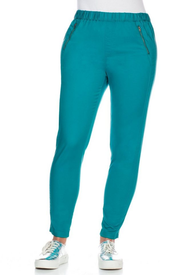sheego Casual Schmale Stretch-Jeggings in lagune