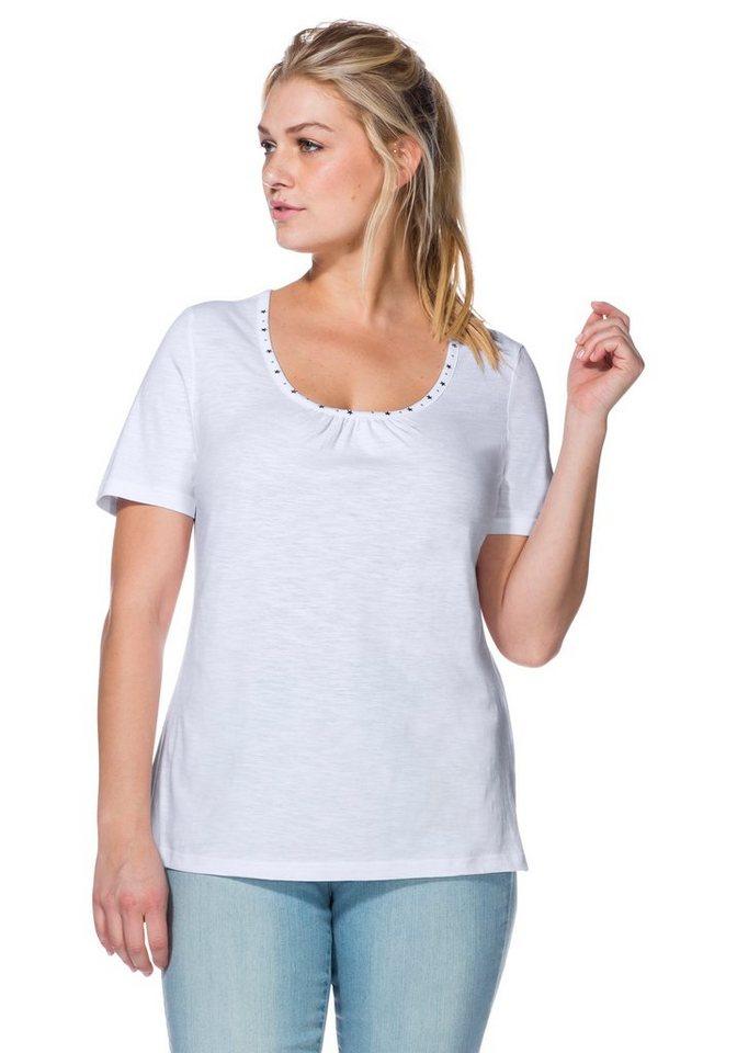 sheego Casual Leichtes Shirt in weiß