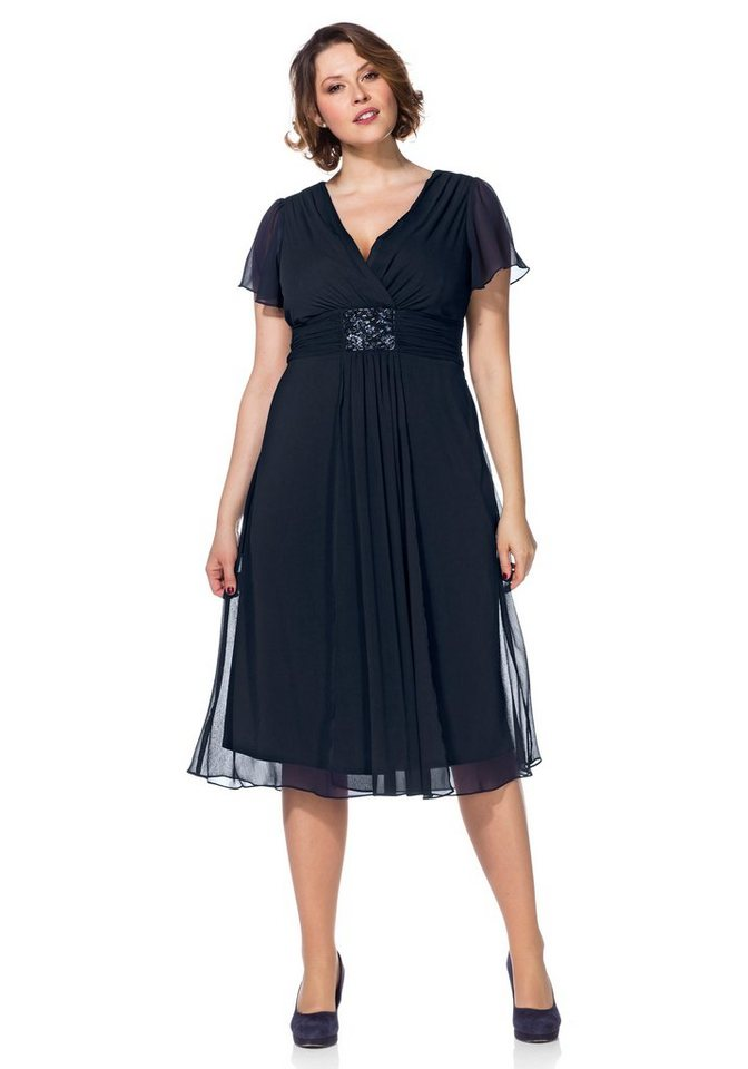 Sheego Style Abendkleid in dunkelblau