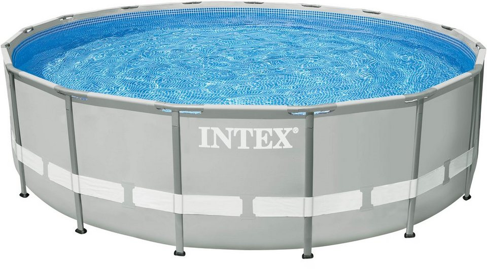 Intex pool set mit sandfilteranlage 549 cm frame for Aufblasbarer pool mit sandfilteranlage